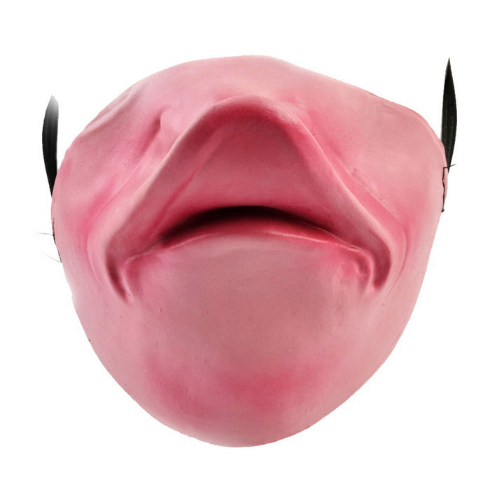 Half-Face Rubber Mask for Cosplay Costume Party - Pink