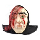 Beauty Zombie Rubber Mask for Cosplay Costume Party - Black