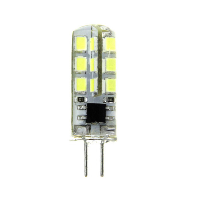 G4 2.5W LED Light Bulb Bluish White 380lm 24-SMD - Transparent+Yellow