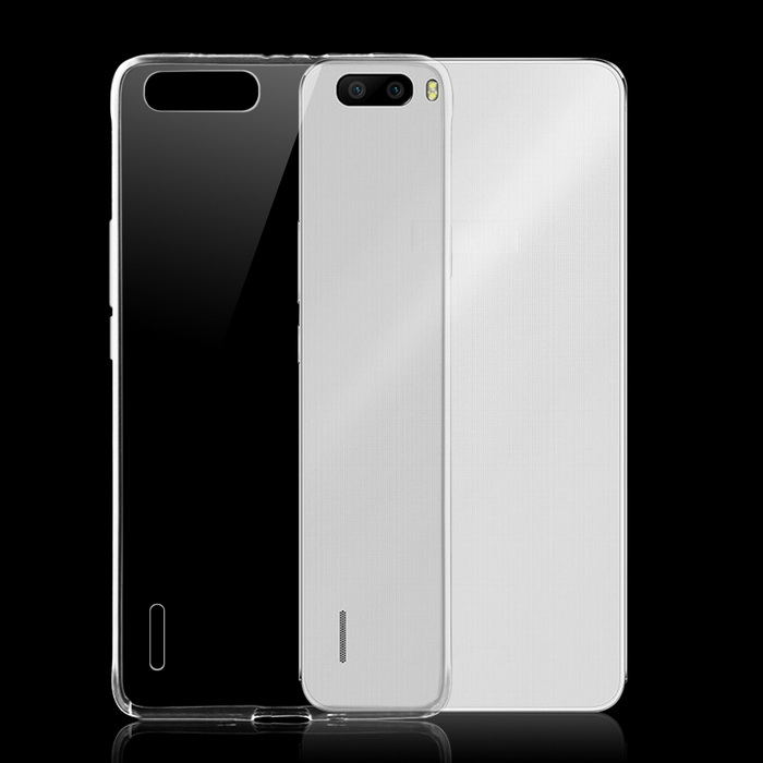 Protective TPU Back Cover Case for Huawei Honor 6 PLUS - Transparent