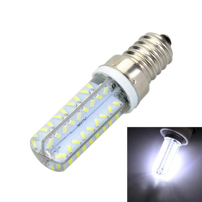Marsing E14 Silicone Seal 6W 600lm 70-SMD LED Warm Cool  White Light Bulb