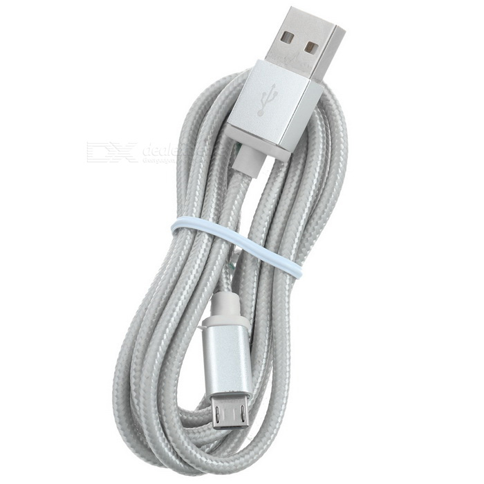 V8 Micro USB 2.0 to USB Charging Cable for Android Phones - GreyCables<br>Form  ColorGreyMaterialBraided nylon + aluminum alloyQuantity1 DX.PCM.Model.AttributeModel.UnitCompatible ModelsAndroid phones with Micro USB 2.0 interfaceCable Length147 DX.PCM.Model.AttributeModel.UnitConnectorMicro USB 2.0Packing List1 x Cable<br>