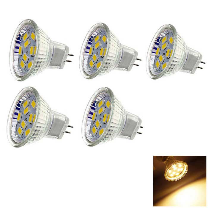MR11 3W LED Lamp Bulb Warm White /White Light  120lm 9-SMD 5730 (5PCS)
