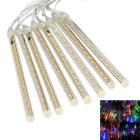 JIAWEN Waterproof 20cm 8-Tube RGB Meteor Light Decoration Tube Light