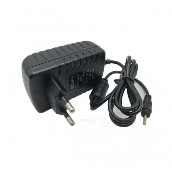 12V 2A Universal Power Adapter Charger - Black (EU Plug / 2.5*0.7mm)
