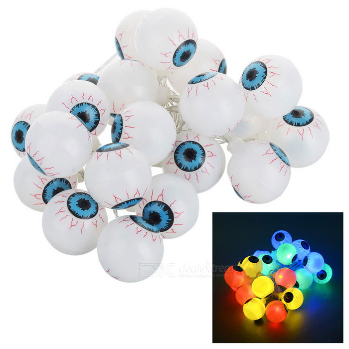 Eyeball Style 2-Mode 20-LED String Light for Party - White (2m)