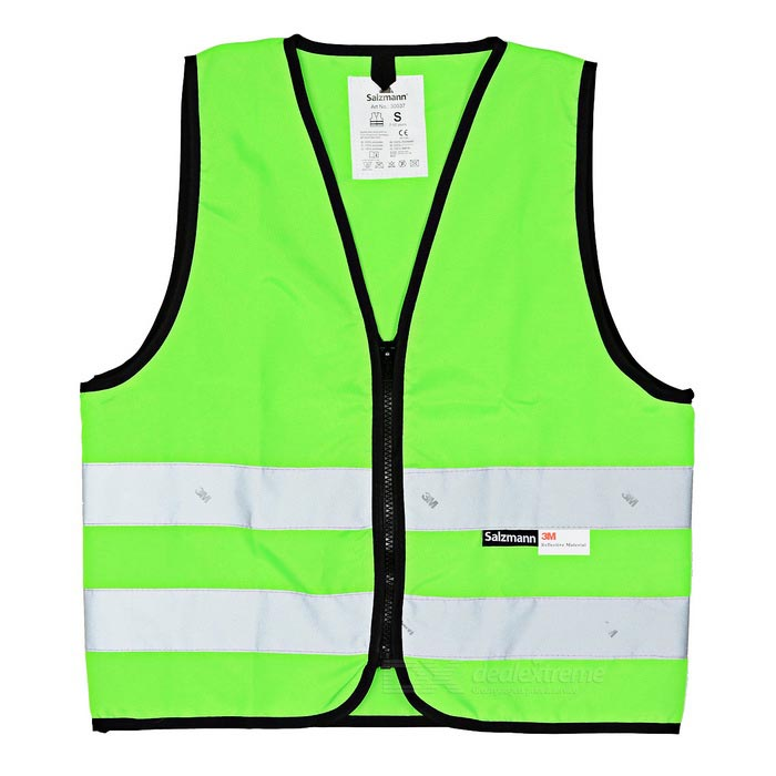 Salzmann Outdoor Waterproof Cycling Reflective Vest - Green (S)