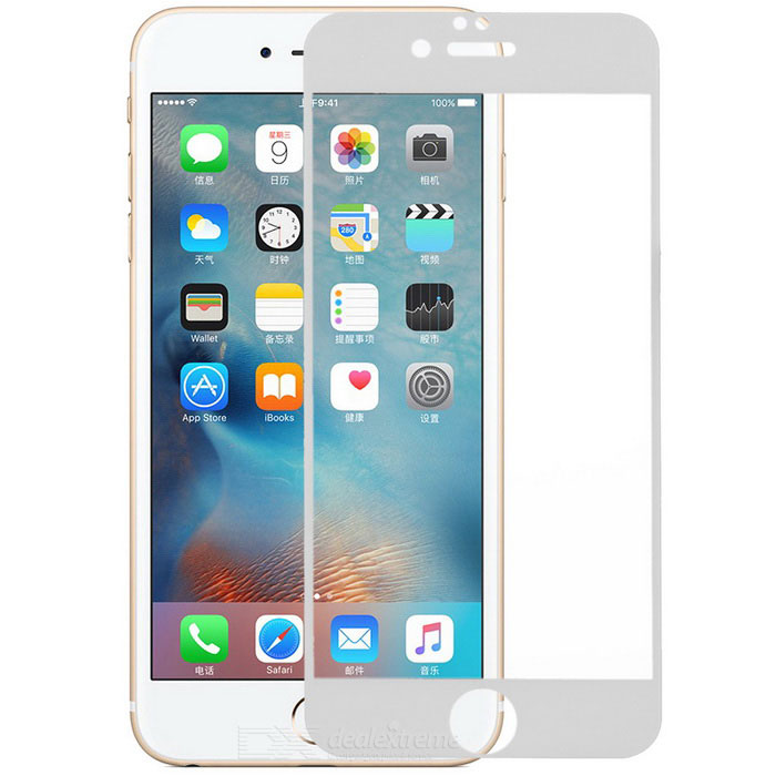 S-What 9H Glass Screen Protector for IPHONE 6 PLUS / 6S PLUS - WhiteScreen Protectors<br>Screen TypeClearQuantity1 DX.PCM.Model.AttributeModel.UnitMaterialTempered glassForm  ColorWhiteCompatible ModelsIPHONE 6 PLUS,Others,IPHONE 6S PLUSStyleScreen protectorScreen FeaturesScratch Proof,Explosion ProofPacking List1 x Screen protector1 x Cleaning cloth1 x Wet cloth<br>