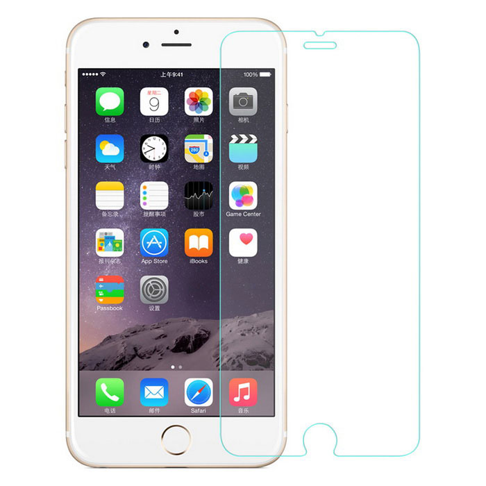 Angibabe 0.18mm Tempered Glass Film for IPHONE 6 PLUS - Transparent