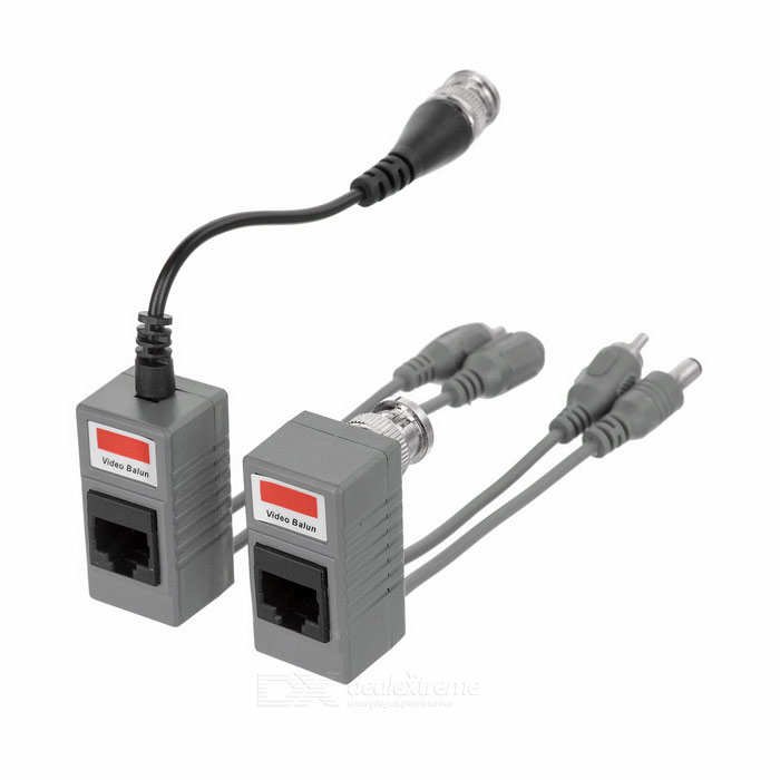 3-in-1 Twisted-pair Cable Audio / Video / Power Transceivers (2 PCS)