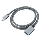 Type-C Male to USB 3.1 Female OTG Data Cable - Black (102cm)