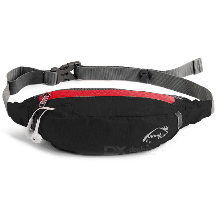 Wind Tour Sports Water Resistant Waist Bag w/ Adjustable Strip - BlackBike Bags<br>Form ColorBlackQuantity1 DX.PCM.Model.AttributeModel.UnitMaterialPolyesterTypeOthers,Cycling waist bagCapacity2 DX.PCM.Model.AttributeModel.UnitWaterproofYesGenderUnisexBest UseCycling,Road CyclingCertificationCEPacking List1 x Waist bag (70cm length adjustable strip)<br>