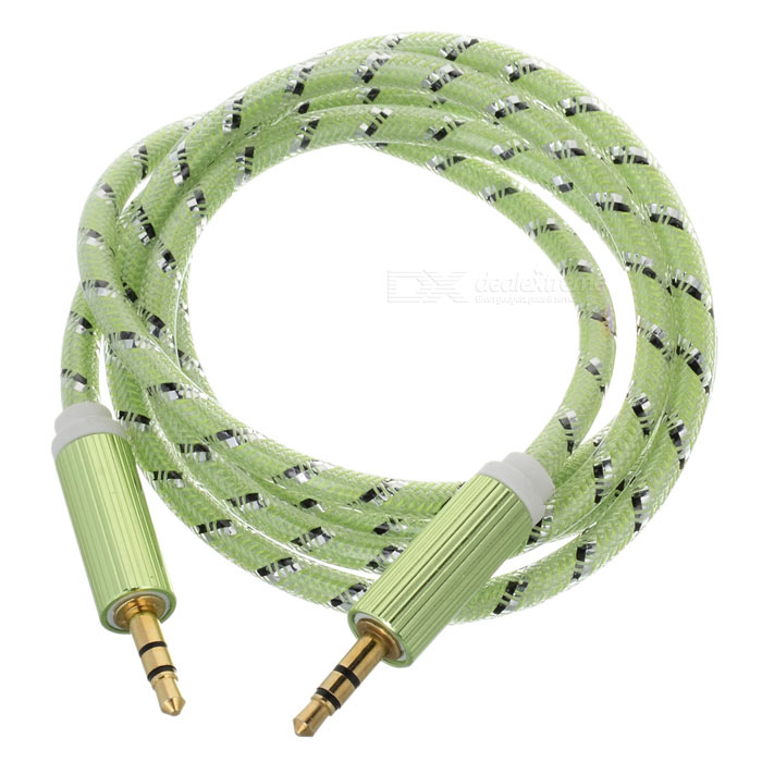 3.5mm Male to Male Audio AUX Cable - Light Green (100cm)