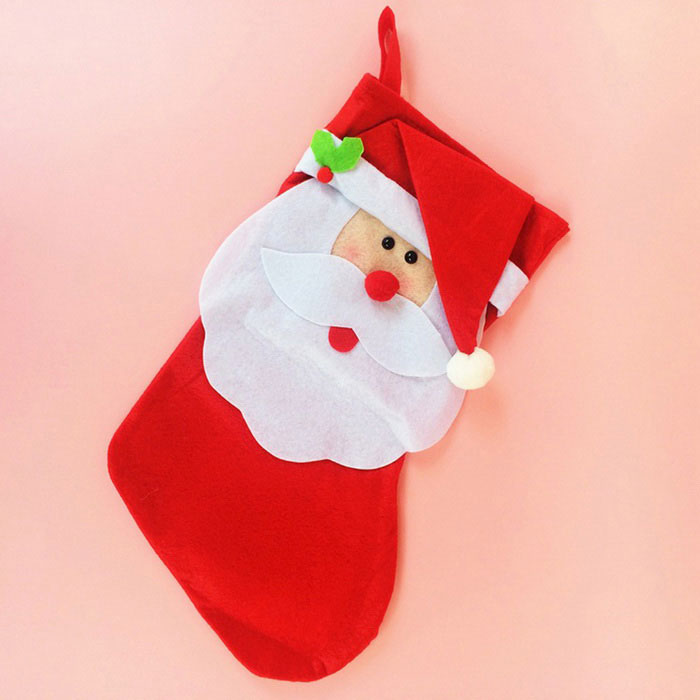 large santa claus sock style red christmas gift bag candy bag red - Christmas Decorations Large Santa Claus