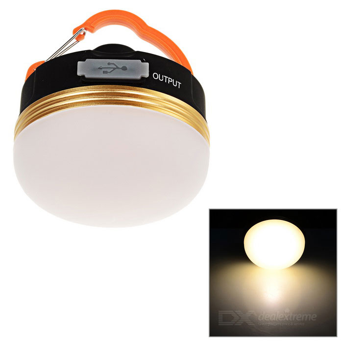 Outdoor 3-Mode Rechargeable LED Camping Lantern Warm White - White
