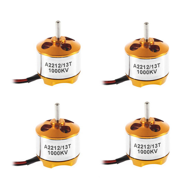 Brushless Outrunner Motor For Aircraft F330 Quadcopter -Silver (4PCS)Other Accessories for R/C Toys<br>Form ColorYellow Golden + SilverMaterialPlastic, metalQuantity1 DX.PCM.Model.AttributeModel.UnitCompatible ModelH330/450/550Packing List4 x A2212 1000KVBrushless Outrunner Motor<br>