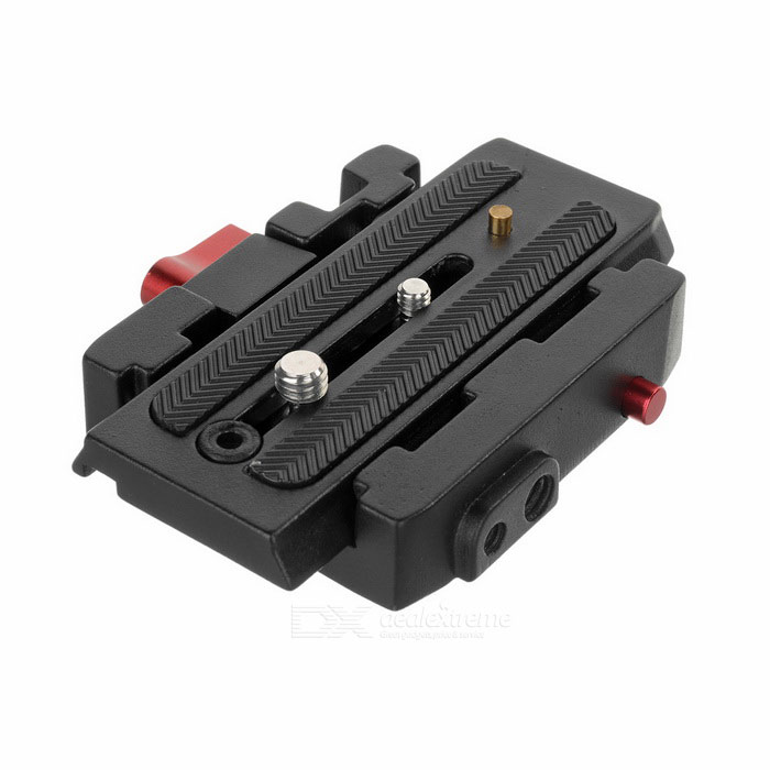 Rapid Adapter Quick Release Plate for Manfrotto 701HDV Fluid HeadOther Accessories<br>Form ColorBlack + Red + Multi-ColoredMaterialAluminum alloyQuantity1 DX.PCM.Model.AttributeModel.UnitPacking List1 x QR plate<br>