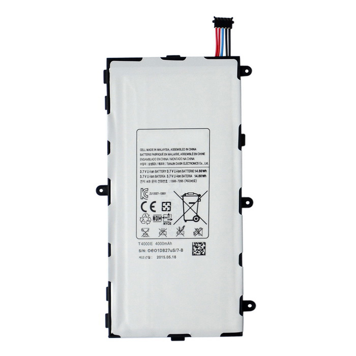 Buy 3500mAh Li-Polymer Battery for Samsung Tab 3 7.0 / T210 + More - White with Bitcoin with Free Shipping on Gipsybee.com