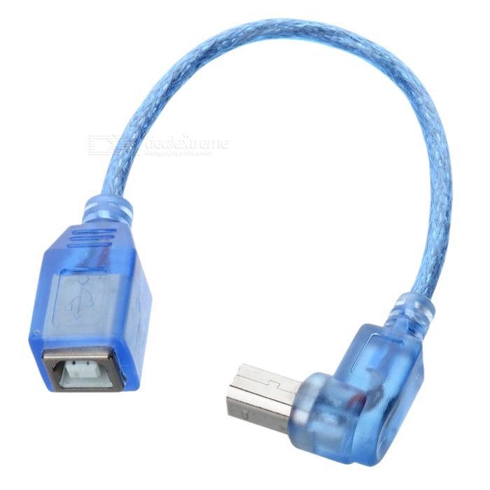 Cwxuan Anti-Interference USB 2.0 BM Male to Female Cable - Blue (20cm)