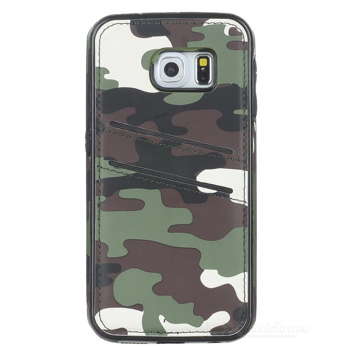Protective Back Case for Samsung Galaxy S6 Edge Camouflage