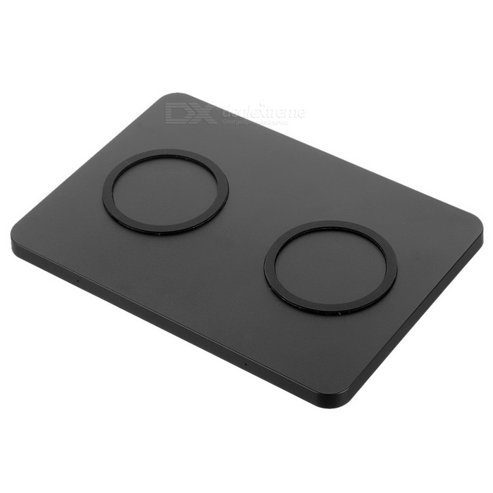 1 to 2 Anti-Slip High Power Qi Standard Wireless Charging Pad - BlackWireless Chargers<br>Form  ColorBlackPower AdapterEU PlugQuantity1 DX.PCM.Model.AttributeModel.UnitMaterialPlasticExecutive StandardQiShade Of ColorBlackTypeChargerCompatible ModelsQi standard smartphoneTransmition Distance6mmCharging Efficiency70%Cable Length90 DX.PCM.Model.AttributeModel.UnitInputDC 5V 3AOutput interface, output current, output voltageWireless 5V 1000mAPacking List1 x Wireless charger1 x EU plug 100~240V power adapter (90cm)1 x English manual<br>