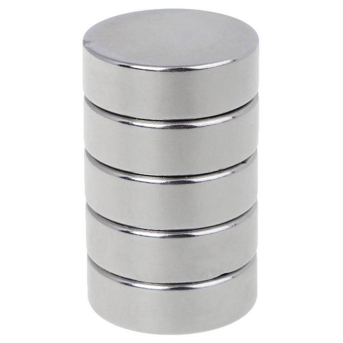 30*10mm Strong Small Size Round NdFeB Magnets - Silver (5PCS)