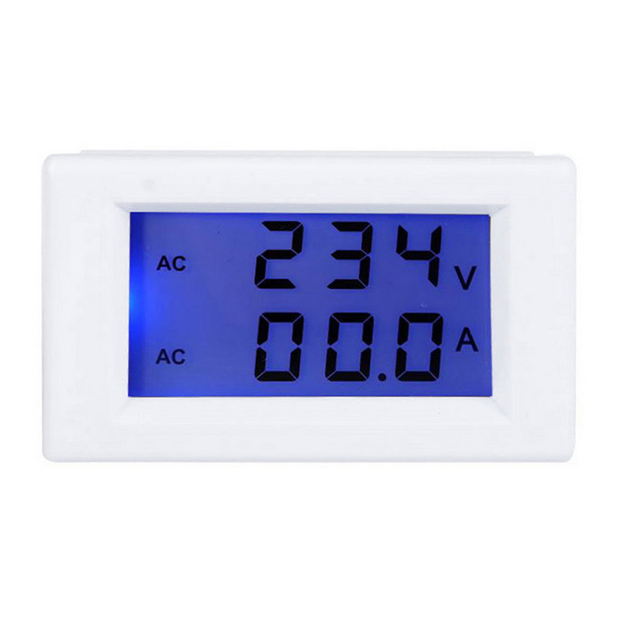 Digital LCD Voltage Meter Ammeter Voltmeter with Current Transformer AC80-300V 0-50.0A Dual DisplayDIY Parts &amp; Components<br>Quantity1 DX.PCM.Model.AttributeModel.UnitForm  ColorWhiteMaterialABSEnglish Manual / SpecNoOther FeaturesDisplay: 2.1 inchesCertificationcePacking List1 x Digital LCD AC Voltmeter / Ammeter with Current Transformer<br>