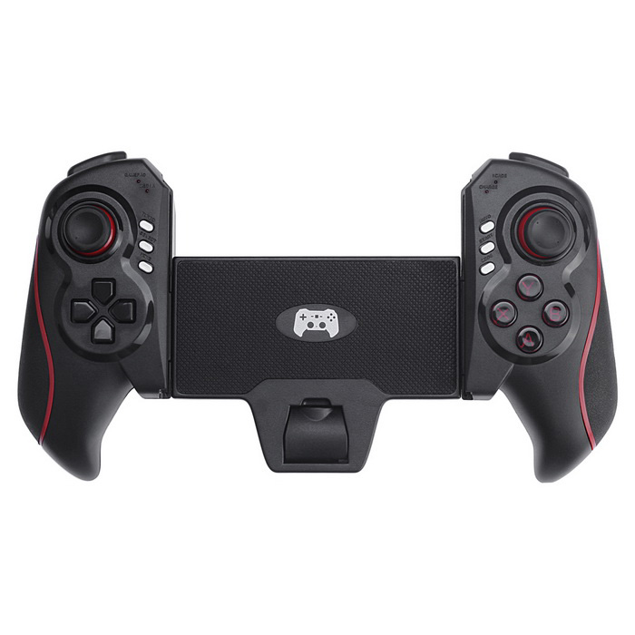 BT wireless gamepad controller di gioco per iPhone, iPad + di più - nero