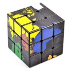 cubo di 57 millimetri 3x3x3 mappa del mondo di rubik magic - nero + multi-color