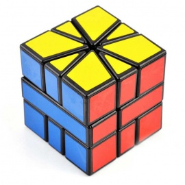 5.5x5.5x5.5cm Educational Magic IQ Cube Toy - Black + Multi-Color