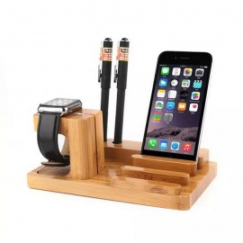 Multifunctional-Wooden-Holder-for-IPHONE-Samsung-Burlywood