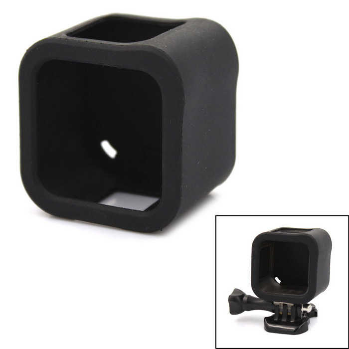B Model Protective Silicone Frame Case for GoPro Hero4 Session - BlackBags &amp; Cases<br>Form ColorBlackQuantity1 PieceMaterialSiliconeShade Of ColorBlackCompatible ModelsOthers,GoPro 4 SessionSizeMDimension5x4.2x4 cmInner Dimension3.3 x 4 x 3.8cmPacking List1 x Silicone Case<br>