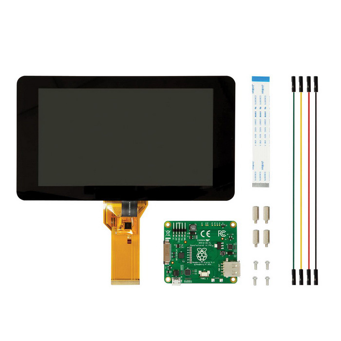 Raspberry Pi 7quot Touch Screen Display + Matching Base Holder Kits