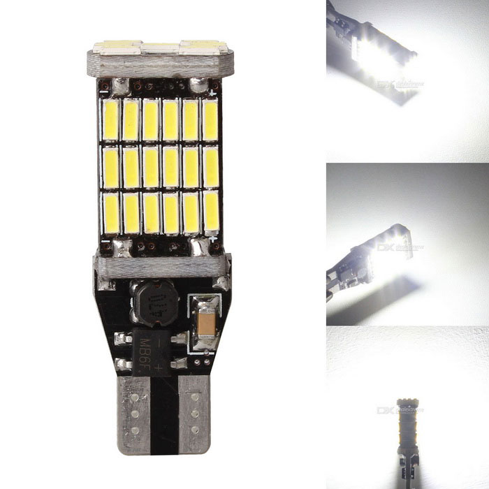 Buy MZ T15 W16W 9W Car LED Backup / Tail Parking Light White 45-SMD with Litecoins with Free Shipping on Gipsybee.com
