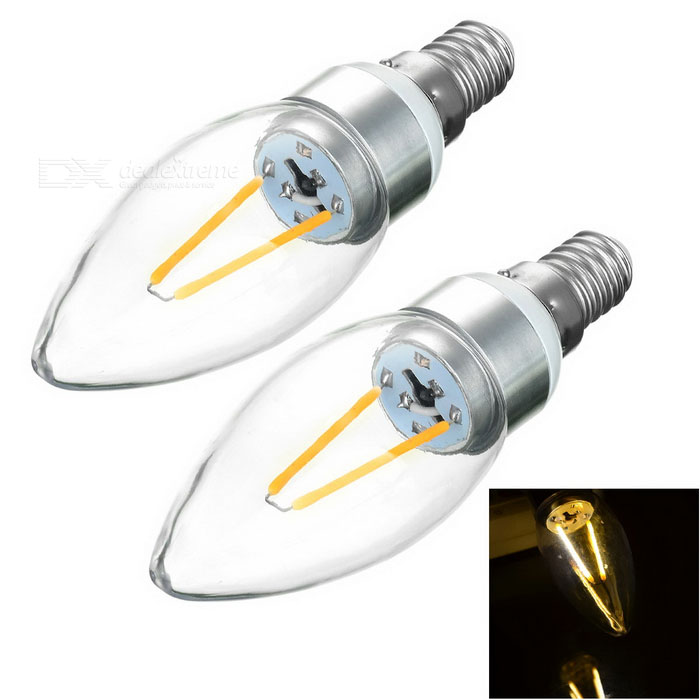 JRLED E14 2W 2-COB Sharp Steep Light Warm White 3000K 200lm (2PCS)E14<br>Form  ColorSilver + White + Multi-ColoredColor BINWarm WhiteMaterialAluminum alloy + PCQuantity2 DX.PCM.Model.AttributeModel.UnitPower2WRated VoltageAC 220 DX.PCM.Model.AttributeModel.UnitConnector TypeE14Chip BrandOthers,N/AChip TypeE-03Emitter TypeCOBTotal Emitters2Theoretical Lumens200 DX.PCM.Model.AttributeModel.UnitActual Lumens130~200 DX.PCM.Model.AttributeModel.UnitColor Temperature3000KDimmableNoBeam Angle360 DX.PCM.Model.AttributeModel.UnitPacking List2 x Lights<br>