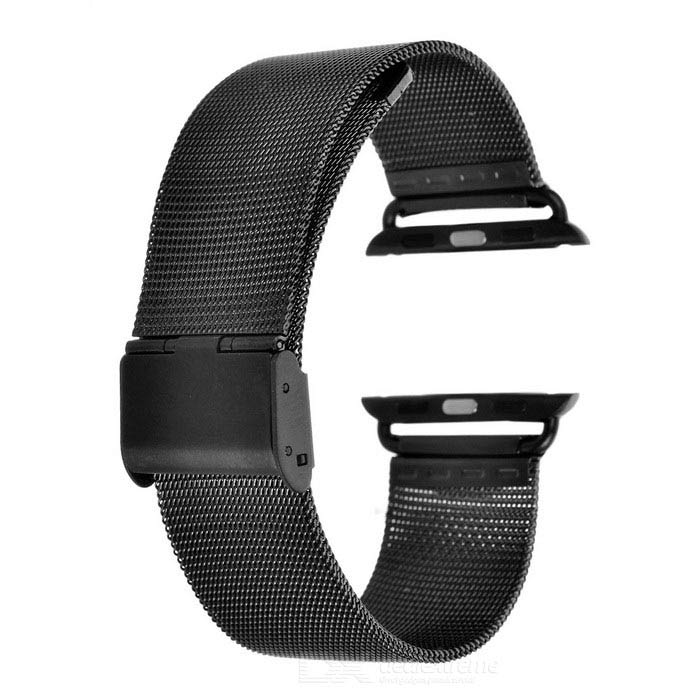 Watchband w/ Attachment &amp; Screwdriver for APPLE WATCH 38mm - BlackWearable Device Accessories<br>Form  ColorBlackQuantity1 DX.PCM.Model.AttributeModel.UnitMaterialStainless SteelPacking List1 x Watchband2 x Attachments1 x Screwdriver<br>