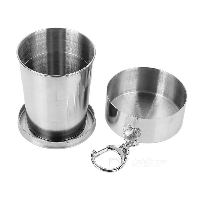 Fire-Maple FMP-302 140ml Outdoor Portable Retractable Cup - SilverForm ColorSilverQuantity1 DX.PCM.Model.AttributeModel.UnitMaterialStainless steelBest UseFamily &amp; car camping,Camping,Mountaineering,Travel,Cycling,FishingTypeCups &amp; MugsOther FeaturesSize: 65 x 35mm; Retractable, with hook on the outer box, convenient for carrying.Packing List1 x Cup<br>