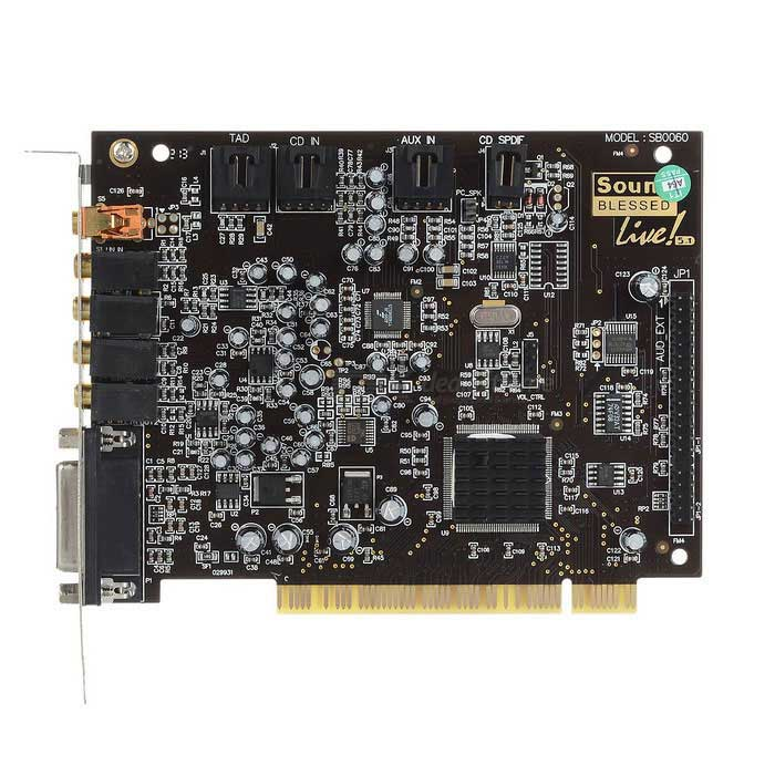 Upgrade 0060 Built-in PCI 5.1 Independent Sound Card - Black