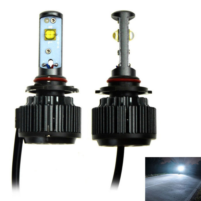 Duplex 9006 V16 30W LED White Light Car Headlamp w/ Decoder ((2PCS)