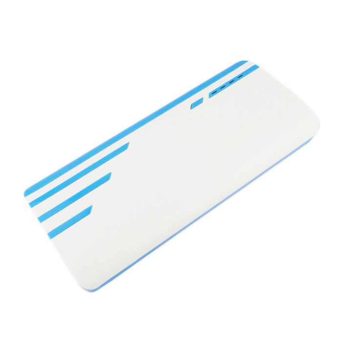 8000mAh Power Bank for IPHONE 6 / 6 PLUS / 5S + More - White + Blue