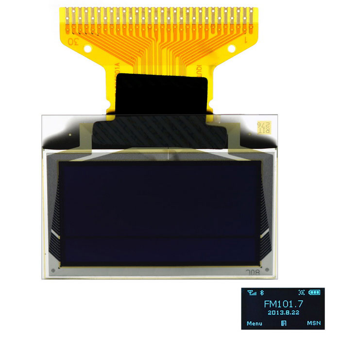 SSD1306 0.96 inch 128*64 Blue OLED Display I2C / 4SPI / 3SPI InterfaceLCD, LED Display Module<br>Form  ColorBlack + BlueModelN/AQuantity1 DX.PCM.Model.AttributeModel.UnitMaterialPCB + PlasticScreen TypeOLEDScreen Size0.96 DX.PCM.Model.AttributeModel.UnitResolutionOthers,128 x 64Working Voltage   2.5~3.3 DX.PCM.Model.AttributeModel.UnitWorking Current15 DX.PCM.Model.AttributeModel.UnitEnglish Manual / SpecYesDownload Link   http://pan.baidu.com/s/1pJnFLVHPacking List1 x 0.96 OLED Display (Blue)<br>