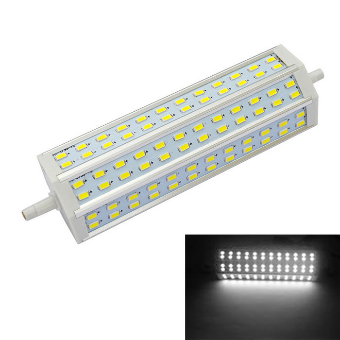 JIAWEN R7S 15W 72 5730-SMD Cold White Light LED Corn Bulb (85~265V)Form  ColorWhite,??+??Color BINCold WhiteMaterialAluminum + PlasticQuantity1 DX.PCM.Model.AttributeModel.UnitPowerOthers,15WRated VoltageAC 85-265 DX.PCM.Model.AttributeModel.UnitConnector TypeOthers,R7SEmitter TypeOthers,5730 SMDTotal Emitters72Theoretical Lumens1200-1500 DX.PCM.Model.AttributeModel.UnitActual Lumens1200-1500 DX.PCM.Model.AttributeModel.UnitColor Temperature12000K,Others,6000-6500KDimmableNoPacking List1 x LED Corn Bulb<br>
