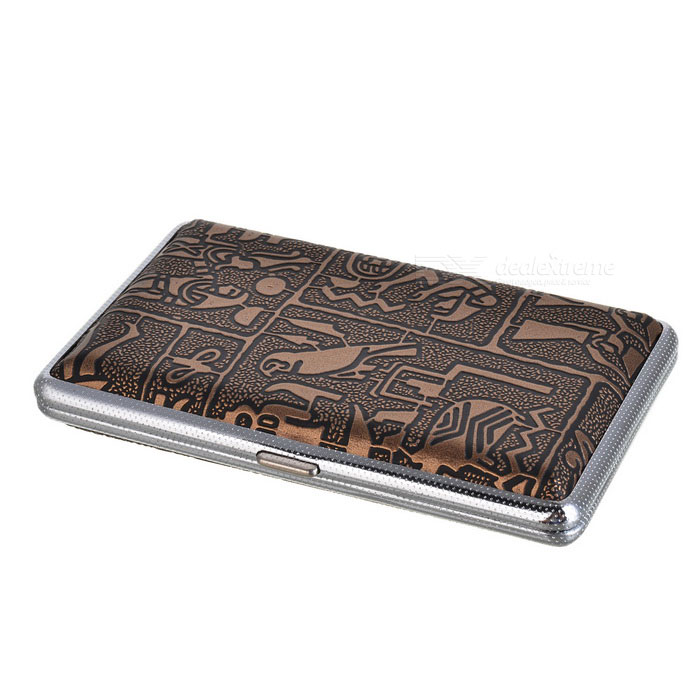 Buy Mysterious Egyptian Glyphs Metal Cigarette Case (Holds 14) with Litecoins with Free Shipping on Gipsybee.com
