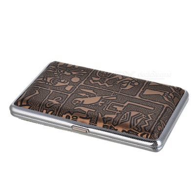 Mysterious Egyptian Glyphs Metal Cigarette Case (Holds 14)