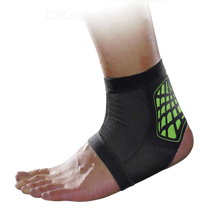 MLD LF1127 Ankle Foot Protection Brace Protector - Black + Green (M)