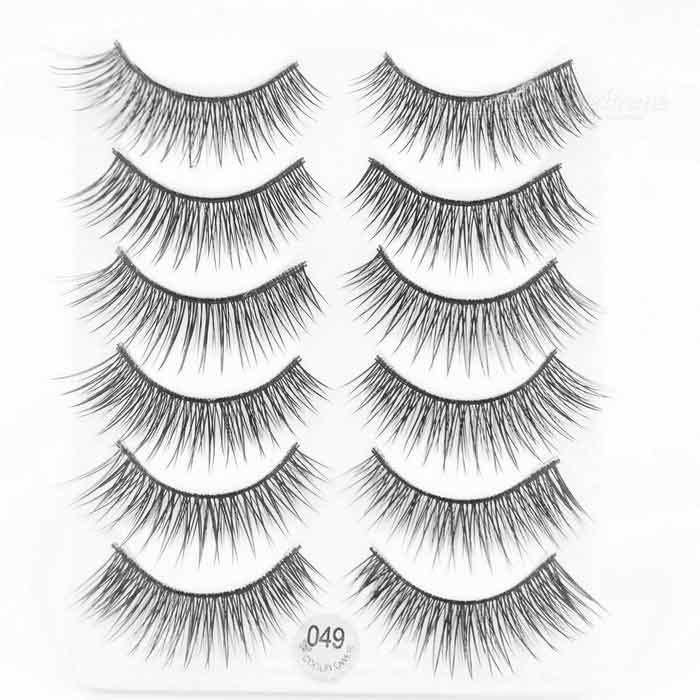 Buy COOL FLOWER 049 Black Cross False Eyelashes for Beauty Makeup (6-Pair) with Litecoins with Free Shipping on Gipsybee.com