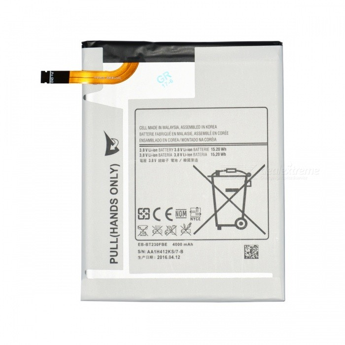 Buy 3500mAh Built-in Battery Panel for Samsung Galaxy Tab 4 7.0 - White with Bitcoin with Free Shipping on Gipsybee.com