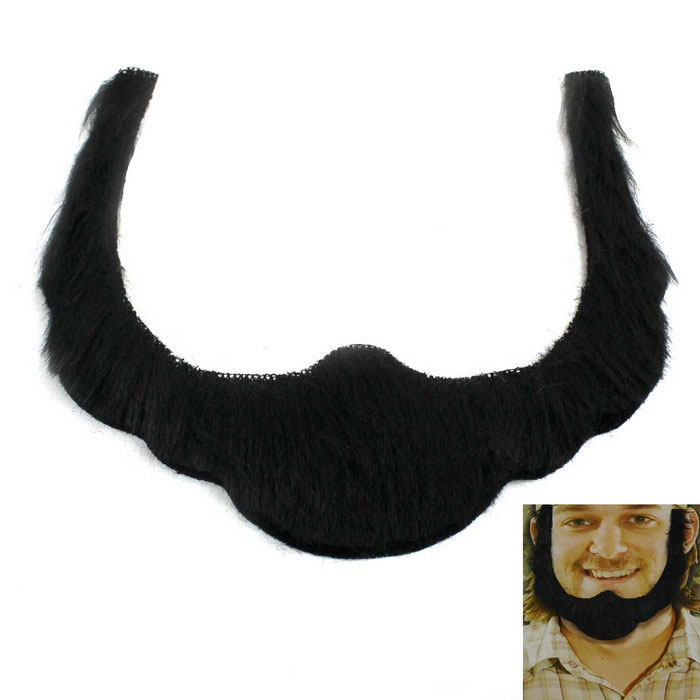 Holiday Role Play Interesting Plush Beard - BlackOther Holidays Gadgets<br>Form  ColorBlackMaterialPlushQuantity1 DX.PCM.Model.AttributeModel.UnitSuitable holidaysHalloween,ChristmasPacking List1 x Beard<br>