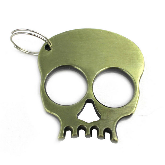 Skeleton Style Steel Survive Hammer Keychain - BronzeKeychains<br>Form  ColorCopperyMaterialSteelQuantity1 DX.PCM.Model.AttributeModel.UnitPacking List1 x Keychain<br>