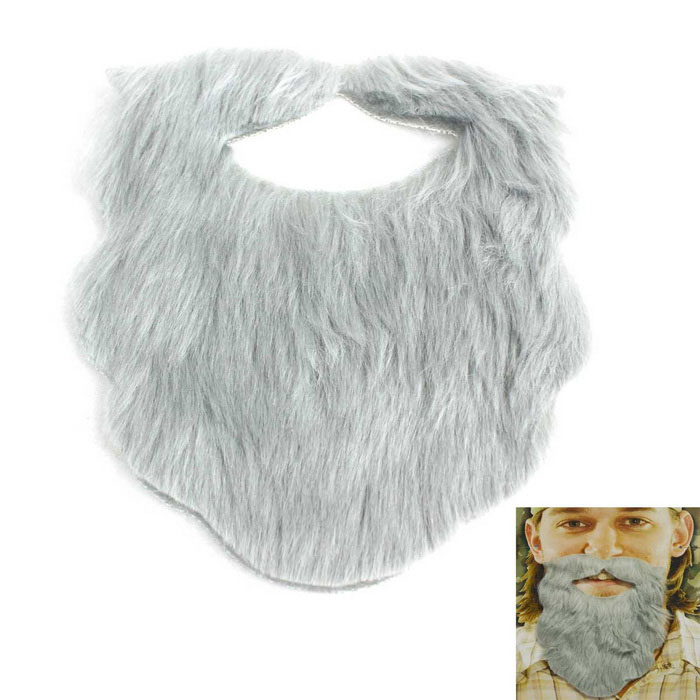 Buy Holiday Role Play Interesting Plush Beard - Grey with Litecoins with Free Shipping on Gipsybee.com